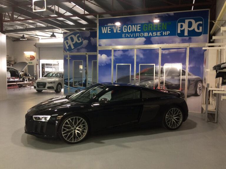 Audi R8 3 Car Smash Repairs
