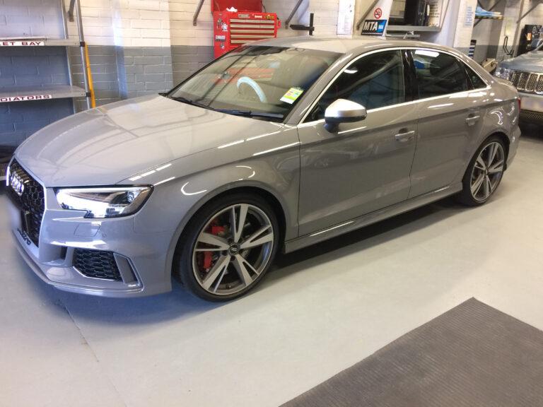 Audi RS3 Grey Car Smash Repair